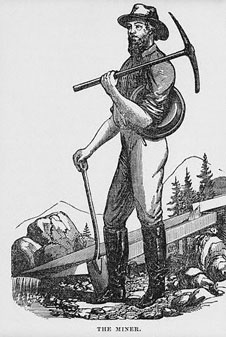 Goldminer with tools