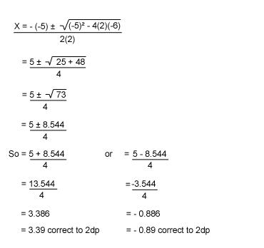 bbc gcse bitesize using the quadratic formula. Black Bedroom Furniture Sets. Home Design Ideas