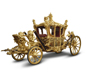 A photograph from the Royal Collection of the Gold State Coach. The Gold State Coach was built in 1762 and has been used at the coronation of every British monarch since George IV. - Images supplied by The Royal Collection / © HM Queen Elizabeth II 2012