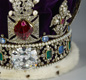 A photograph of the Imperial State Crown from the Royal Collection. The crown was made in 1937 for King George VI's coronation. The Crown includes lots of jewels including 2,868 diamonds, 273 pearls, 17 sapphires, 11 emeralds, and five rubies. - Images supplied by The Royal Collection / © HM Queen Elizabeth II 2012