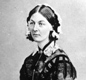 A portrait of Florence Nightingale who went to Turkey in November 1854 and worked at the Army hospital at Scutari.
