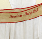 A sash embroidered with 'Scutari Hospital' that was worn by nurses from the hospital during the Crimean War.