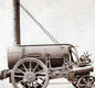 George Stephenson's Rocket train, the first steam powered locomotive.
