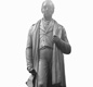A statue of George Stephenson that used to stand in the Great Hall at Euston station and is now at the National Railway Museum.