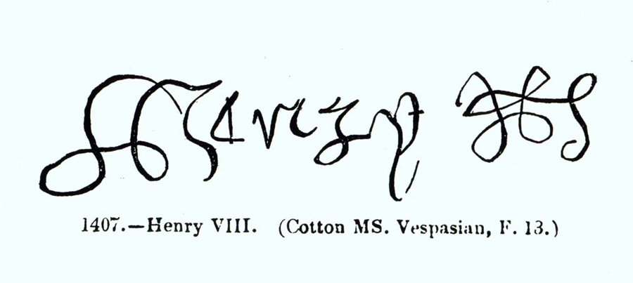 Bbc primary history famous people henry viii for Tudor signatures