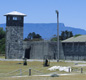 The prison on Robben Island where Mandela spent 18 of his 27 years in captivity.