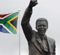 A statue of President Nelson Mandela outside the Groot Drakenstein prison in Paarl near Cape Town.