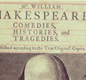 The title page of the first complete edition of Shakespeare's plays. Shakespeare didn't publish his plays during his lifetime. The first collection of his work was produced by his friends after his death.