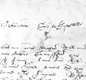 One of the very few copies of Shakespeare's signature is found on his will. Shakespeare died a month after this will was written.