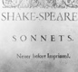 The cover of the first edition of William Shakespeare's 'Sonnets', dated 1609.