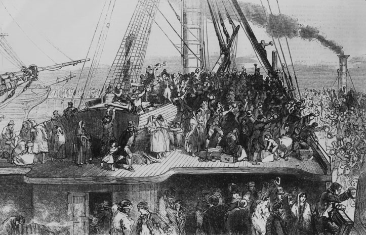 america the irish people in the land of immigrants Before the american civil war, most immigrants arrived in the united states from   land due to the poor potato crop, many of these people hoped to come to the.