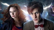 The Eleventh Doctor (Matt Smith) and Amy Pond (Karen Gillan)