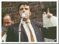 Jimmy Reid delivering his speech to the UCS workers 1971.