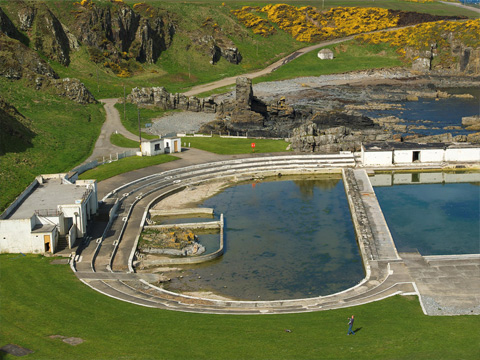 Bbc scotland 39 s landscape tarlair pool - Scotland holiday homes with swimming pool ...