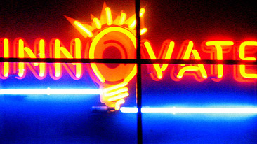 Innovate neon sign. CC Flickr:uncleweed