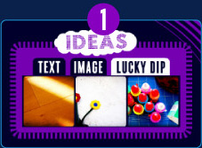 Step 1: Add an image to play with using the ideas box