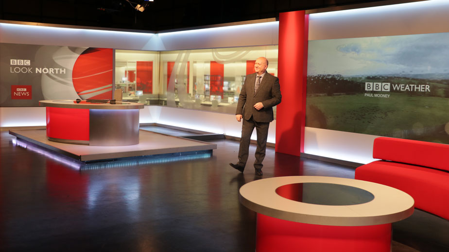 Look North studio at BBC Newcastle