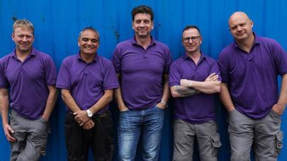 Nick Knowles and the team