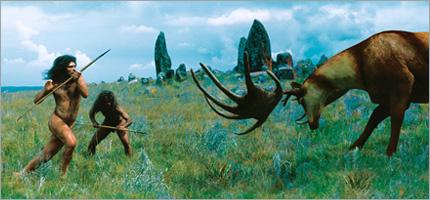 Homo heidelbergensis hunting
