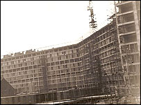 Building of Park Hill flats, 1960s