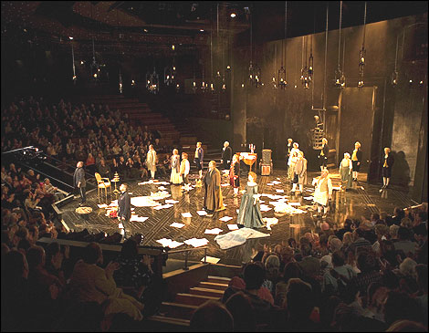 the crucible and stage directions Explore arthur miller's use of the stage directions in act 1 of the crucible to  create drama and inform the audience about the nature of the society in salem  the.