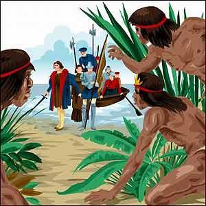 Indios esperando a los blancos
