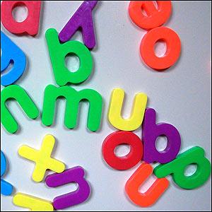 Letras de plástico