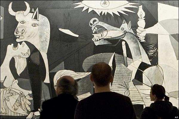 pinturas de picasso. Pablo Picasso en su famoso