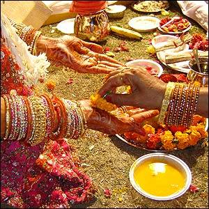 Matrimonios indios de la India del sexo