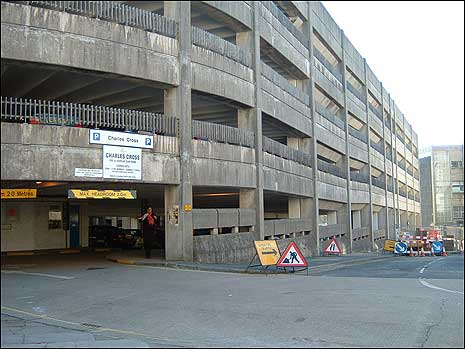 The old multi storey car park