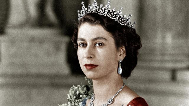 The official picture of the Queen on her accession to the throne in February 1952.