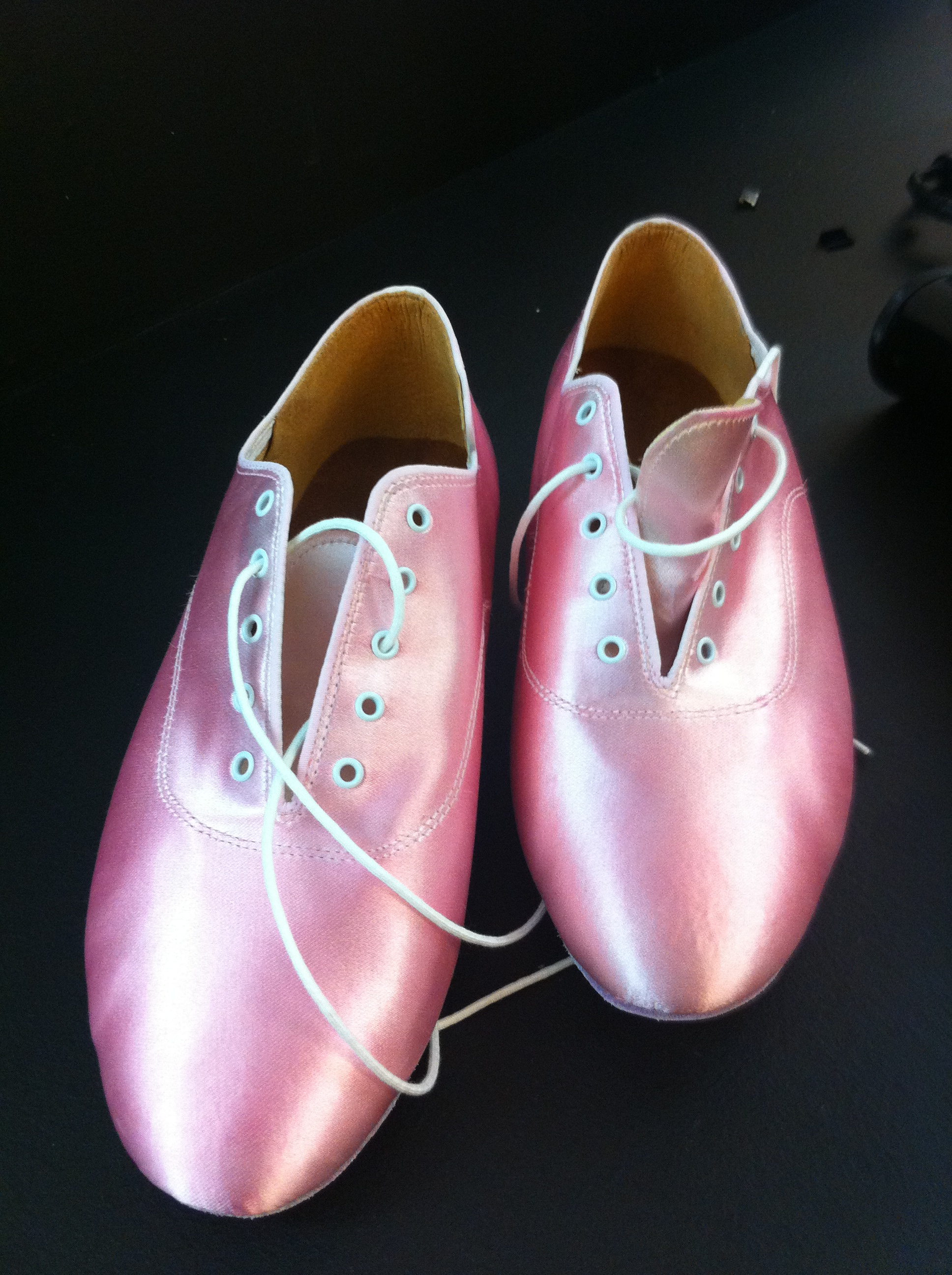 Pink shoes backstage at Strictly
