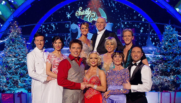 The ten dancers competing in the Strictly Come Dancing Christmas special 2010.