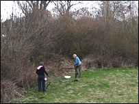 Volunteers clearing Rawcliffe Meadows