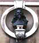 Photograph showing a bust of Charles I in Whitehall, London