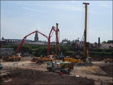Crane is installed at the new University of Worcester site.