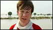 Lyse Doucet by flood waters in Pakistan