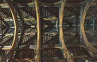 Photograph showing the interior woodwork to Westminster Hall