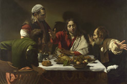 N0172: Caravaggio, The Supper at Emmaus, 1601 (c) The National Gallery, London