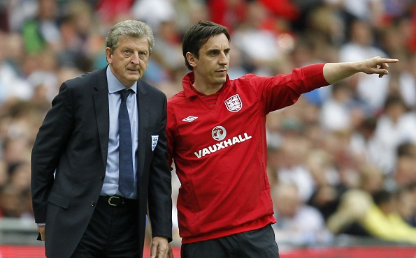 Roy Hodgson and Gary Neville