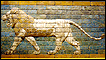 A relief of glazed bricks representing a lion from the reign of the Nebuchadnezzar II period in Babylon