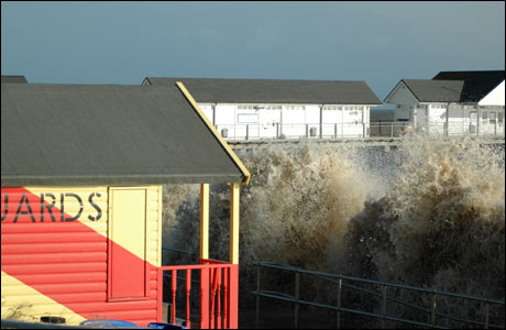 Lifeguards' hut at Southwold, by Lisa Scott