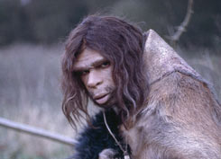 Neanderthal man ready to hunt
