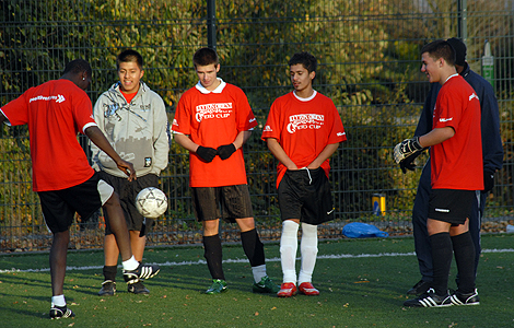 Leyton Orient Eid Cup football six-a-side tournament. Photograph courtesy of Sabera Bham.