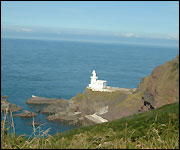 The lighthouse at Hartland Point