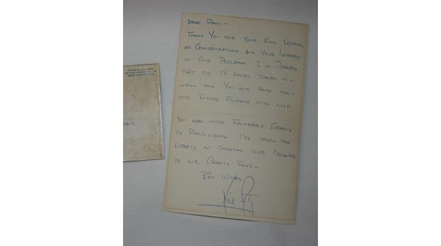 A letter from astronaut Neil Armstrong