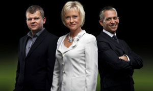 Sports Personality Of The Year 2007 presenters: (L-R) Adrian Chiles, Sue Barker and Gary Lineker