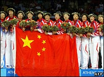 Chinese volleyball team in Athens 2004