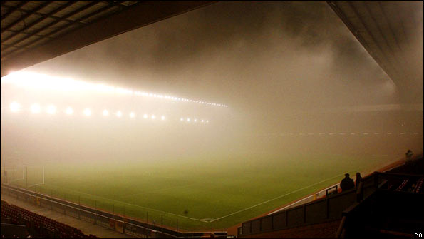 Fog at Anfield