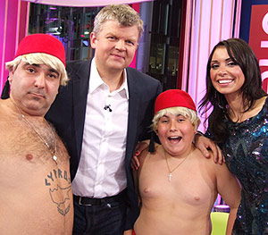 Adrian and Christine with Stavros Flatley